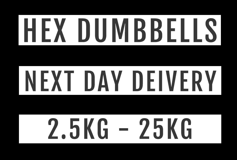 Hex Dumbbell Banner Text
